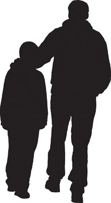 father-son-silhouette